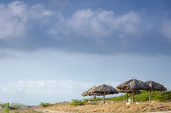 Vila område vid stranden i Aruba Royaltyfria Foton