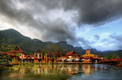 Vila oriental, Langkawi, Malásia Imagem de Stock Royalty Free