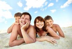 Vila på stranden royaltyfri foto