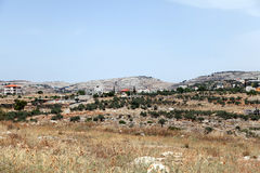 Vila Palestina Israel de Bil'in Imagem de Stock Royalty Free
