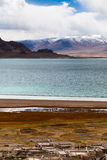 Vila pela costa norte do lago de DangQiongCuo Fotos de Stock Royalty Free