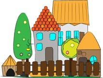 Vila pequena Ilustração Stock