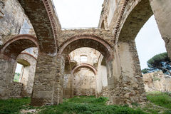Vila pequena das épocas romanas, Itália fotos de stock