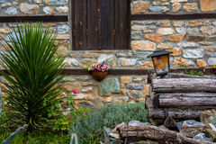 Vila pequena, montanha de Olympus, Grécia Fotografia de Stock