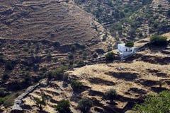 Vila pequena típica nas montanhas Grécia Imagens de Stock Royalty Free