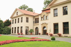 Vila per presidente della repubblica Ceca sul castello di Praga Immagine Stock