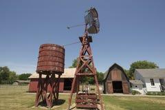 Vila pioneira velha, Kalona Iowa imagens de stock