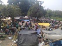 vila pobre em Bangladesh fotos de stock