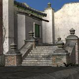 Vila portuária asiática velha Foto de Stock
