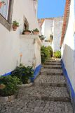 Vila Portugal de Obidos Cidade medieval de Obidos, Portugal imagem de stock royalty free