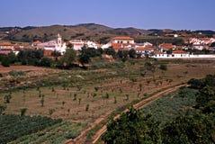 Vila portuguesa, Santa Clara-um-Velha, Portugal. imagem de stock royalty free