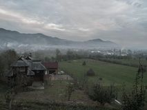 Vila romena fotos de stock