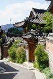 Vila Seoul Coreia do Sul de Bukchon imagens de stock