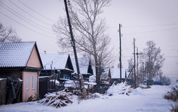 Vila Siberian Imagens de Stock