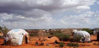 Vila somaliana, Ogaden, Etiópia fotografia de stock