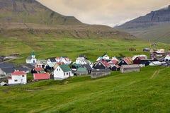 Vila típica de Faroe Island Foto de Stock