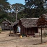 Vila típica malgaxe Fotografia de Stock