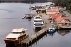 Vila Tasmânia de Strahan Fotografia de Stock Royalty Free