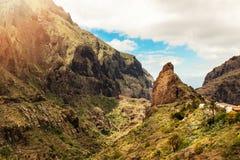 Vila Tenerife de Masca Imagens de Stock Royalty Free
