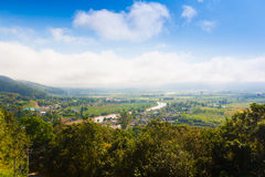 Vila Thaton na Tailândia, airview Foto de Stock