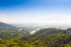 Vila Thaton na Tailândia, airview Fotos de Stock