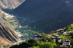 Vila tibetana de Jiaju de sichuan de China imagem de stock royalty free