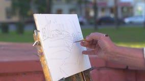 vila tjusning, målarfärger, bild arkivfilmer