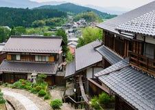 Vila tradicional de Magome/Japão fotografia de stock