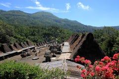 Vila tradicional Flores Indonésia de Bena Fotos de Stock Royalty Free