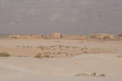 Vila tradicional no deserto do console de Socotra Imagem de Stock