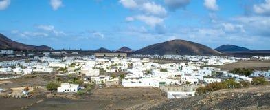 Vila Uga em Ilhas Canárias Lanzarote Fotos de Stock Royalty Free
