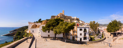 Vila van Ibiza dalt Stock Afbeelding
