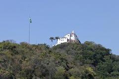 Vila Velha, convento di Penha sulla cima di un'alta montagna Immagini Stock Libere da Diritti