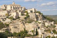 Vila velha da cume de Gordes em Provence Fotos de Stock