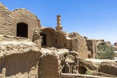 Vila velha de Kharanagh em Yazd, Irã Fotos de Stock