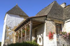 Vila velha do Saint-Amândio--Coly Foto de Stock Royalty Free