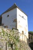Vila velha do Saint-Amândio--Coly Fotografia de Stock