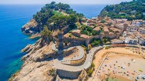 Vila Vella i Tossa de Mar Royaltyfri Foto