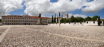 Vila Vicosa Ducal Palace-Hauptleitungsfassade Stockbild