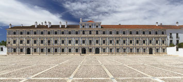 Vila Vicosa Ducal Palace. Panoramic image of Vila Vicosa Ducal Palace in Alentejo, Portugal royalty free stock photo