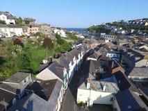 Vilaagen av Mevergissey i Cornwall Royaltyfri Foto