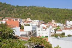 Vilaflor,特内里费岛屋顶  库存图片