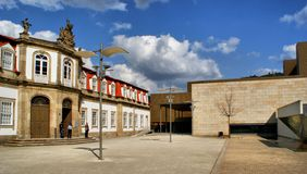 Vilaflor cultural centre in Guimaraes Royalty Free Stock Photo
