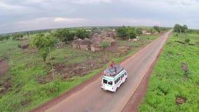 Vilage в Африке сток-видео