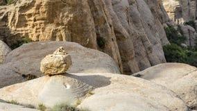Vilage de Dana, réservation de Dana Nature en Jordanie images stock