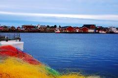 Vilage de Lofoten en Noruega Imagenes de archivo