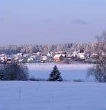 Vilage en hiver Photos stock