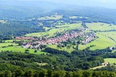 Vilage panoramautsikt i den Bayern Tyskland Arkivbilder