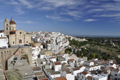 Vilage of Pisticci with Church above royalty free stock photo