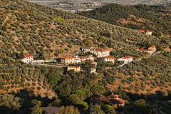 Vilage in Vineyard,  Chianti, Tuscany Stock Photos